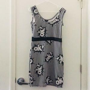 """OK!"" Black & White Party dress"